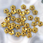 32pcs 10x4mm Bead Cap Antique Gold Copper Bronze Jewelry Findings Free Shipping