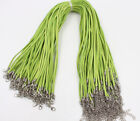 Wholesale 50pcs Black Suede Leather String Necklace Cord Jewelry Finding 45cm