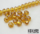 Wholesale 4681012mm Glass Crystal Faceted Rondelle Charm Spacer Beads