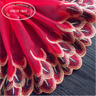Floral Tulle Lace Trim Ribbon Embroidery Feather Wedding Fabric Sewing Diy Fl82