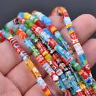 Millefiori Lampwork Glass Loose Spacer Beads Charms Findings Random Mixed Color