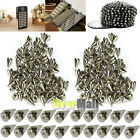 500pcs 10mm Silver Spots Cone Screw Metal Studs Leathercraft Rivet Bullet Spikes