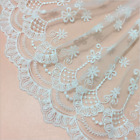 1yard 35cm Delicate White Embroidered Flower Tulle Lace Trim Sewing Craft Fl237