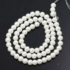 Wholesale Cream White Czech Glass Pearl Round Loose Beads 3 4 6 8 10 12mm
