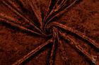 Crushed Velvet Velour Fabric - One Way Stretch - Width 150 Cm