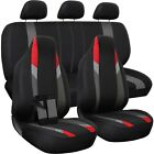 Seat Cover Complete Set For Car Truck Suv Van - Flat Poly Cloth Fabric- 10 Piece