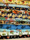 12 Yd Western Cowboy Fabric U Pick Toile Rope Boot Hat Country Rodeo Bull Horse