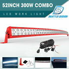 52inch 300w Led Work Light Bar Flood Spot Combo For Jeep Offroad Truck Pk 54