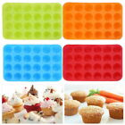 Silicone Cupcake Mould Cake Donut Soap Baking Mold Pan 24 Cavity Non-stick Us