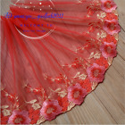 Floral Tulle Lace Trim Ribbon Flower Embroidery Wedding Fabric Sewing Diy Fl263