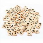 100200x Wooden Alphabet Scrabble Tiles Black Letters Numbers For Crafts Um