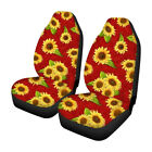 Pair Car Seat Covers Front Row Set Sun Flower Printed Protector For Car Suv