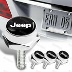 4x Car Security License Plate Frame Bolt Screw Nuts Fit Chevy Toyota Nismo More