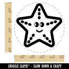 Starfish Doodle Rubber Stamp For Stamping Crafting Planners