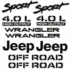 Jeep Wrangler Sport Vinyl Stickers Vinyl Decals Set Yj Tj 4.0l 10 Piece Made Usa