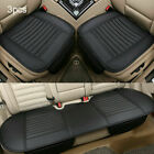 25 Seats Universal Car Seat Covers Deluxe Pu Leather Seat Cushion Full Set Us