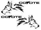 X2 Coyote Vinyl Decal Sticker Fits Ford Mustang