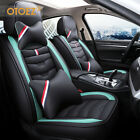 Luxury Leather Car Seat Covers Front Rear Full Set Universal For Sedan Truck Suv