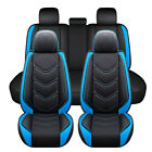 3d Universal Car Seat Cover Full Set Texture Pu Leather For Front Rear 5 Seats