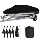 Heavy Duty 600d Waterproof Boat Cover Polyester Fit V-hull Tri-hull Runabout