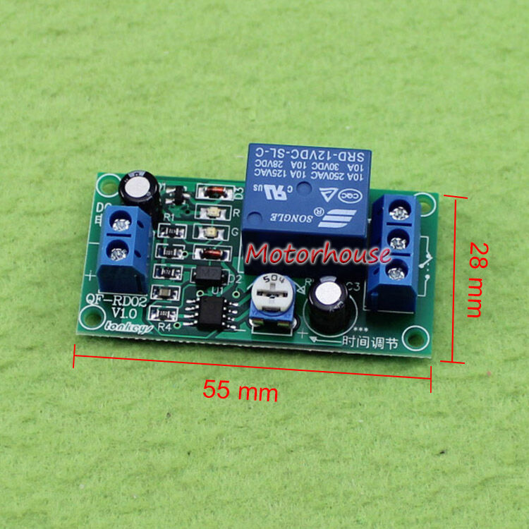 DC 12V 3CH Adjustable Trigger Delay Time Switch Timer Board Relay Module 10A