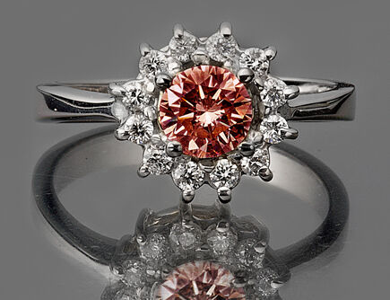 0.81 CT. ROUND CUT CUSTOM PINK DIAMOND ENGAGEMENT 14K GOLD RING UNIQUE in Jewelry & Watches, Engagement & Wedding, Engagement Rings | eBay