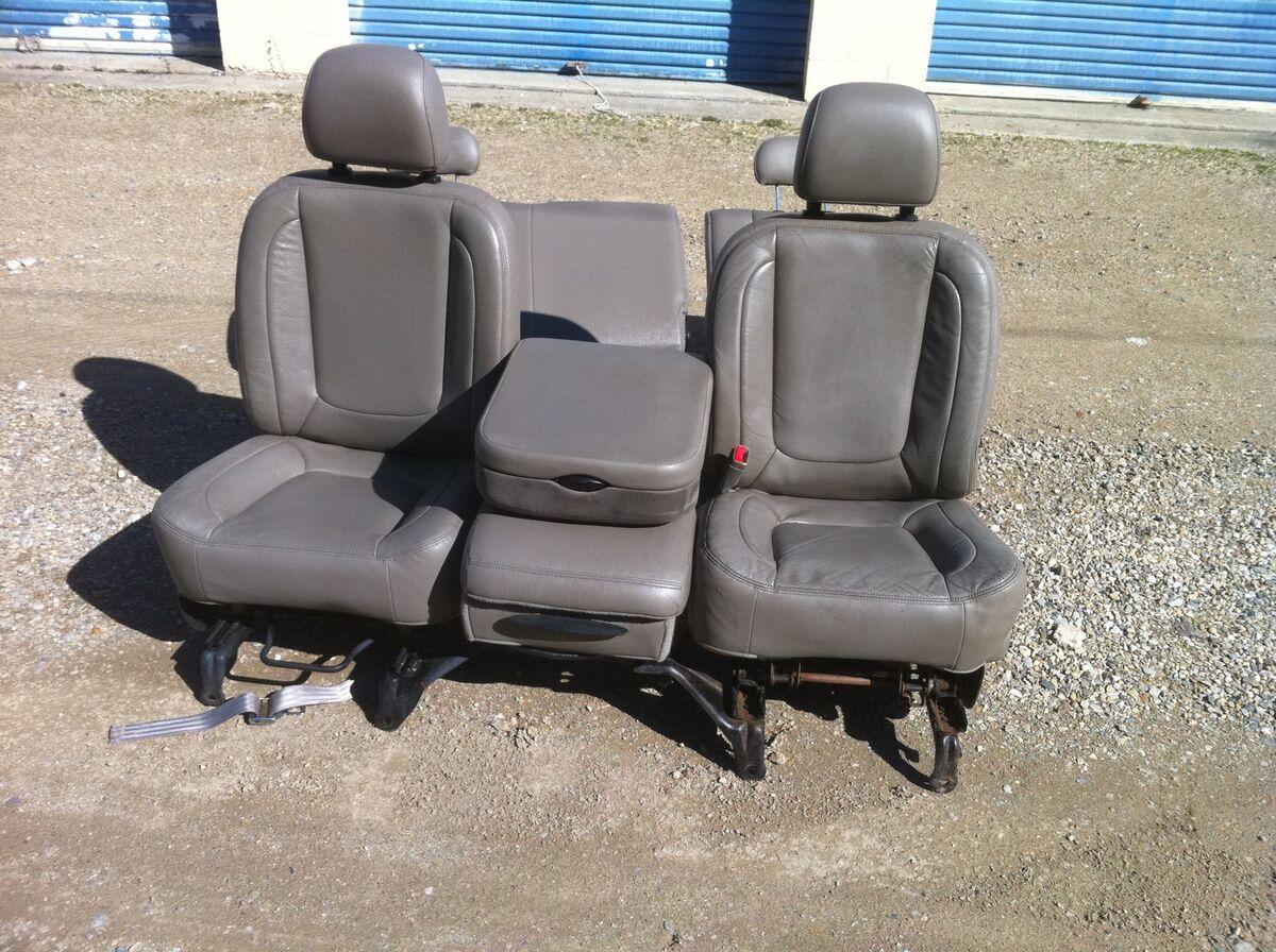 dodge ram 1500 2500 leather seats light grey rare driver powered seat. Black Bedroom Furniture Sets. Home Design Ideas