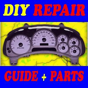 03 04 05 GMC Envoy Instrument Cluster Speedometer DIY Guide Parts