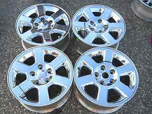 06 08 Jeep Commander 17 Chrome Alloy Wheel Rim Set