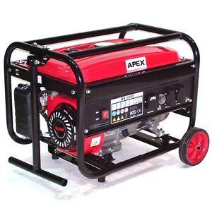 06262 benzin stromerzeuger 3000 mit fahrwerk generator. Black Bedroom Furniture Sets. Home Design Ideas