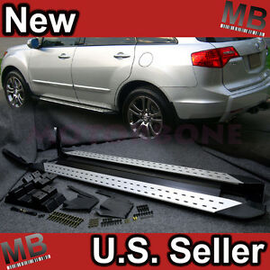 Acura  2012 on 07 09 Acura Mdx Side Step Running Board Rail Nerf Bar Kit Direct Fit