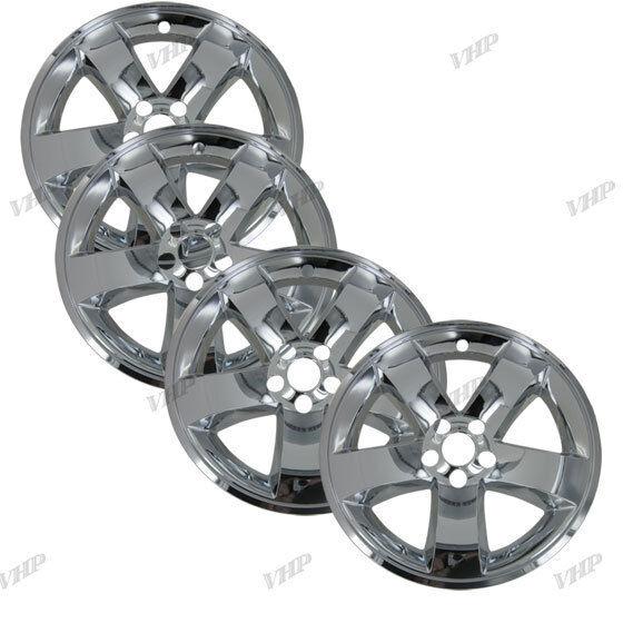 "08 13 Dodge Challenger 18"" Chrome Wheel Skin Hubcaps Cover Hub Cap"