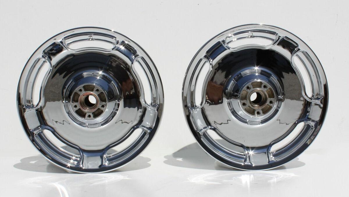 09 10 11 HD Harley FLHX Street Glide Streetglide New Chrome Wheel Rim Set Wheels