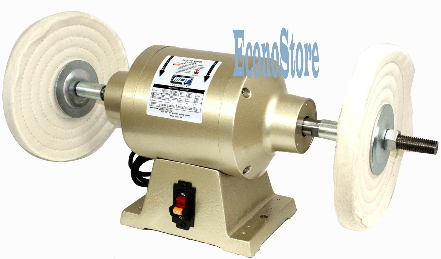 Large 6 Buffing Table Bench Top Buffer Polisher Wheels Ul 110v Motor Ebay