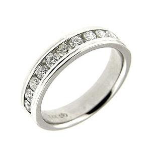 1 10 CT WHITE GOLD DIAMOND MENS WEDDING BAND RING 14 KT