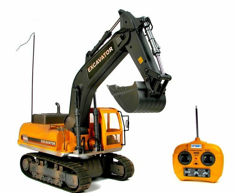 Radio Controlled Heavy Equipment Models : Big scale crane rtr r c model hbe ye