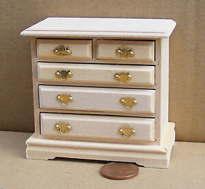 1-12th-Scale-Chest-Of-Drawers-Dolls-House-Miniature-Bedroom-Accessory-128