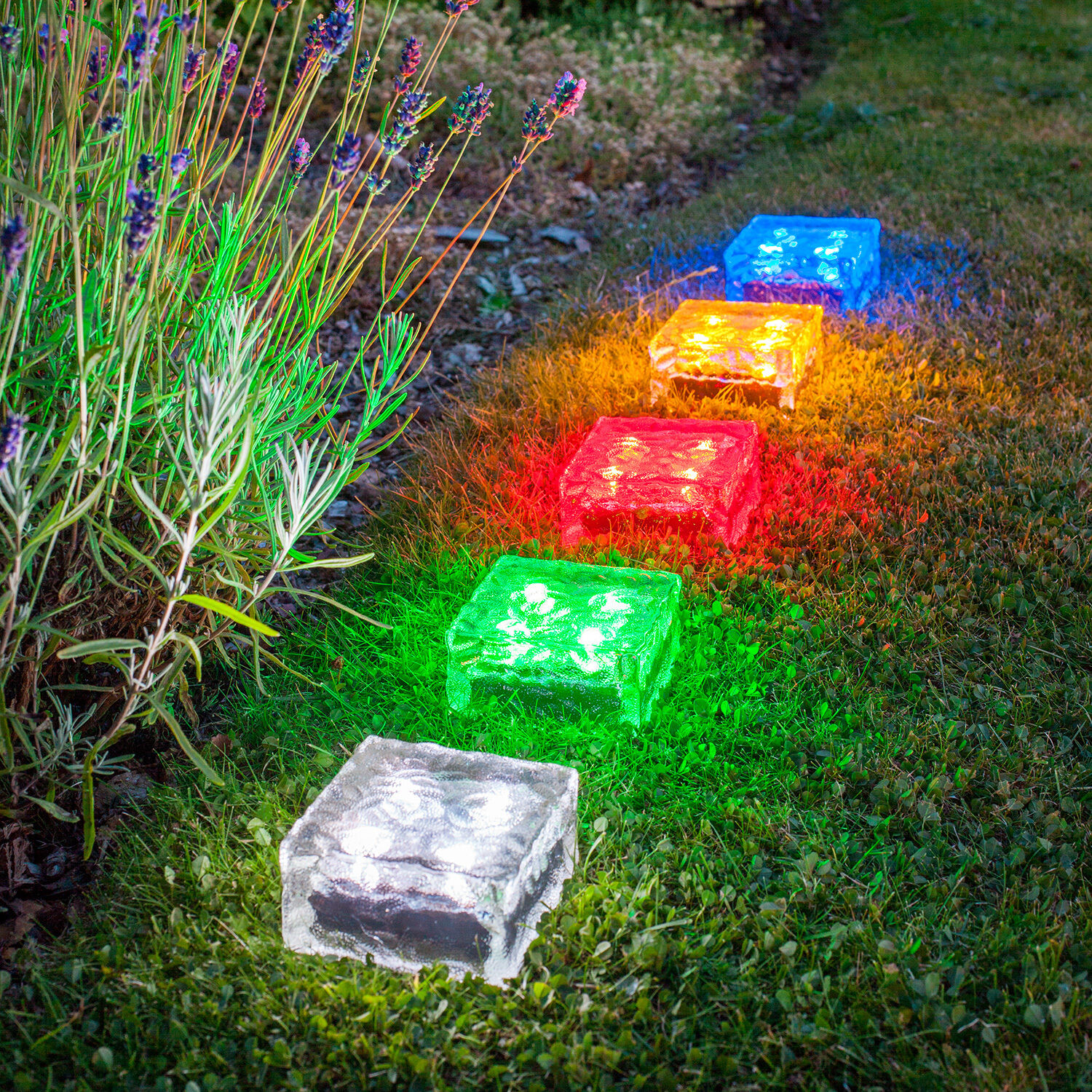 1 12x led solar pflasterstein weg beleuchtung garten leuchte led stein milchglas ebay. Black Bedroom Furniture Sets. Home Design Ideas