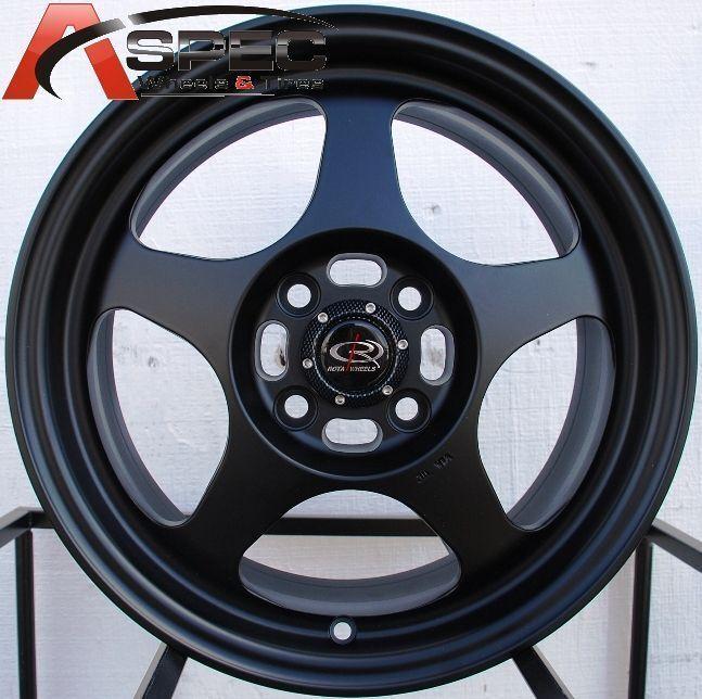 15x7 5 Rota Slipstream Wheel 4x108 Rim 45mm Offset 63 35 Hub Flat