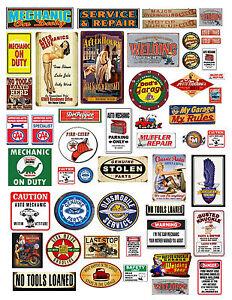 Old Car Garage Signs