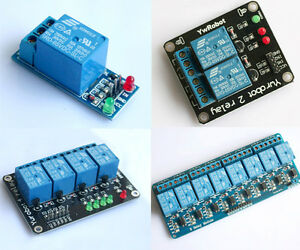 1-2-4-8-Channel-Kanal-5V-Relais-Relay-Module-Modul-f-Arduino-DSP-AVR-PIC-ARM-C8