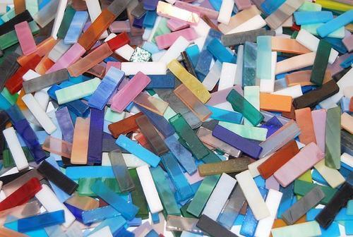 """1/4"""" Mixed Color Tumbled Stained Glass Mosaic Tiles in Crafts, Glass & Mosaics, Glass & Mosaic Tiles 