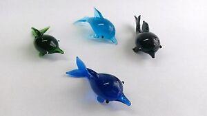 1-5-4-Delphin-aus-Glas-in-4-tolle-Farben