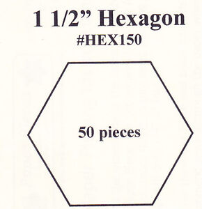 1 5 inch hexagon template 1 5 hexagon english paper piecing templates pack of 50 ebay