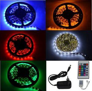 1-5-Meter-300-RGB-LED-Band-Strip-Streifen-5050-12V-deutscher-Haendler