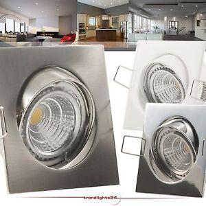 1-50x-Set-QUADROS-230V-COB-LED-5-5W-60W-Halogen-Hochvolt-dimmbar-Einbaustrahler