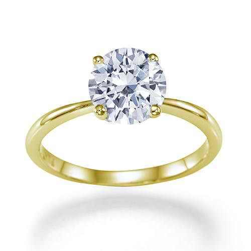 1.72 carat H/I1-I2 WHITE, 4 Prong Round Diamond Engagement 14k Yellow Gold Ring in Jewelry & Watches, Engagement & Wedding, Engagement Rings | eBay