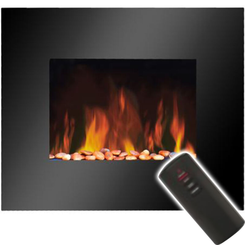 Slimline Wall Mounted Electric Fires: Slimline Electric Fire With Living Flame Effect