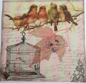 1 aufkleber vintage vogel note klebefolie wei rosalies. Black Bedroom Furniture Sets. Home Design Ideas