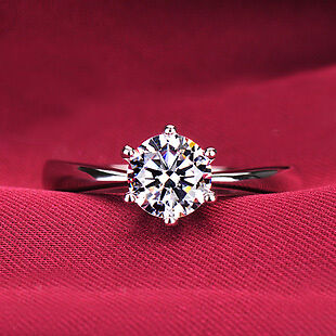 "1 CT DIAMOND ENGAGEMENT RING 14K WHITE GOLD SIZE 7"" in Jewelry & Watches, Engagement & Wedding, Engagement Rings 